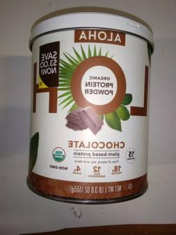 1 ALOHA Organic Chocolate Plant Based Protein Powder 1lb 3.6