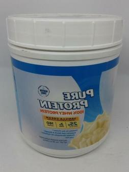 Pure Protein 100% Whey Powder Vanilla Cream 1 Pound ~2 Ct~