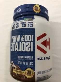 Dymatize 100% Whey Protein Isolate Powder Classic Chocolate
