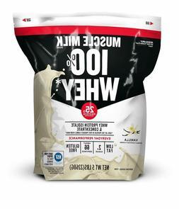 Muscle Milk 100% Whey Protein Powder, Vanilla, 25g Protein,