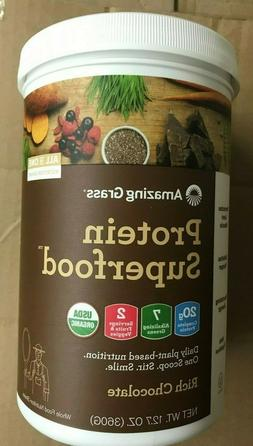 12.7 OZ WHOLE FOODS AMAZING GRASS PROTEIN SUPERFOOD RICH CHO