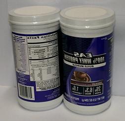 - EAS 100% Whey Protein Powder, Chocolate, 12.5 oz each