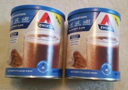 2 Atkins Chocolate Protein Powder 15g Protein Low Carb Low G