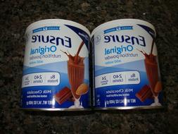 2 Ensure Milk Chocolate Original Shake Powder 8 Gram Protein