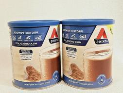 2 Atkins Milk Chocolate Protein Powder 10.2 oz Gluten Free L