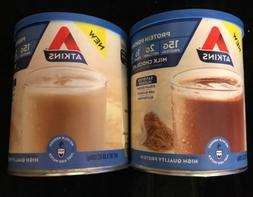 2 ATKINS PROTEIN POWDER 15G PROTEIN 1 CHOCOLATE 1 VANILLA 9.