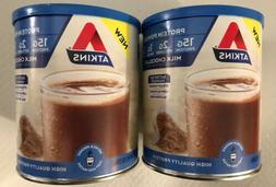 2 ATKINS PROTEIN POWDER - 15G PROTEIN - CHOCOLATE  - 9.88oz