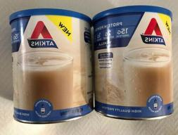 2 ATKINS PROTEIN POWDER - 15G PROTEIN - VANILLA - 9.88oz Can