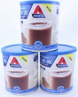 3 Atkins Chocolate Protein Powder 15g Protein Low Net Carbs