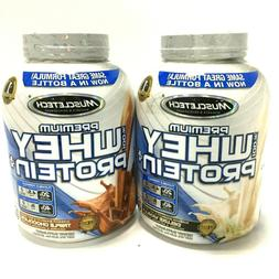 5 lbs MuscleTech Premium 100% Whey Protein Powder Mix, Choco