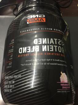 GNC AMP Sustained Protein Blend - Strawberry Milkshake. New.