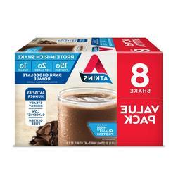 Atkins Dark Chocolate Royale Shakes, 11 fl oz, 8 count