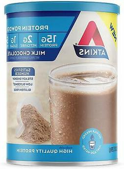 Atkins Gluten Free Protein Powder, Chocolate, Keto Friendly,