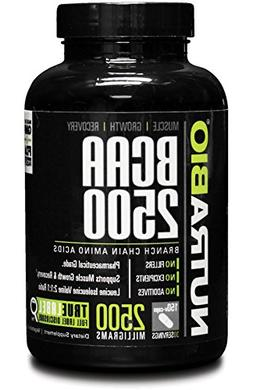 NutraBio BCAA 2500 - 150 Vegetable Capsules