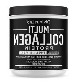 5 Types Multi Collagen Protein Powder 16.2oz Gluten-Free Unf