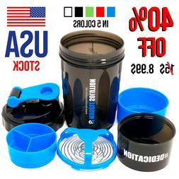 Blender Bottle Protein Powder Shaker Mixer Cup Gym Workout E