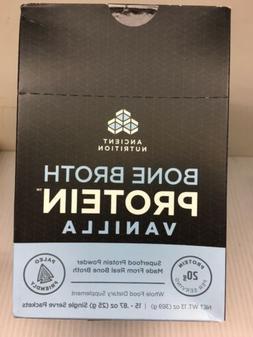 Ancient Nutrition Bone Broth Protein - 15 Vanilla packets -