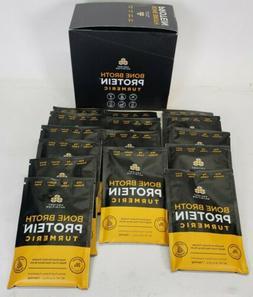 Box of 15 Ancient Nutrition Bone Broth Protein Turmeric Sing