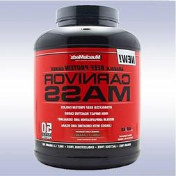 MUSCLEMEDS CARNIVOR MASS  beef gainer protein isolate bcaa c