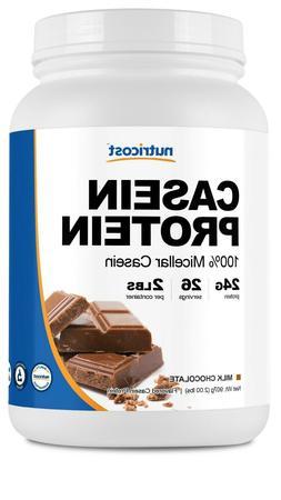 Nutricost Casein Protein Powder 2lb Chocolate - 100% Micella