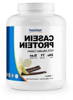 Nutricost Casein Protein Powder 5lb Vanilla - 100% Micellar