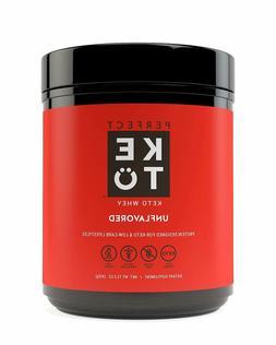 Perfect Keto Chocolate Whey Protein Powder Isolate W/ MCT Po