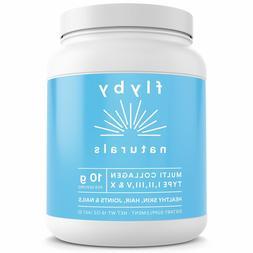 Collagen Peptides Powder Protein Flyby Unflavored 16 Oz Mult