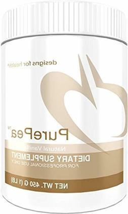 Designs for Health PurePea - Vanilla Pea Protein Powder with