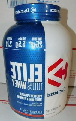 Dymatize Elite Whey Protein Powder Strawberry Blast 25g Prot