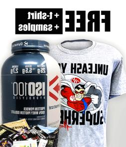 Dymatize ISO-100 100% Whey Protein Isolate 71 Serv 5LB FREE