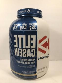 Dymatize Elite 100% Casein Protein Powder, Smooth Vanilla, 2