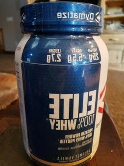 Dymatize Elite 100% Whey Protein Powder, 25g, 5.5g BCAAs & 2