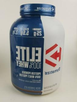 elite 100 percent whey protein powder rich