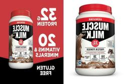 Muscle Milk Genuine Protein Powder, Natural Real Chocolate,