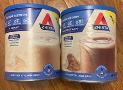Atkins Gluten Free Protein Powder, Vanilla, Keto Friendly, 9