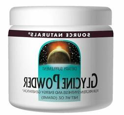 Source Naturals Glycine Powder, For Protein Synthesis and En