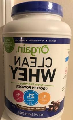 Orgain Grass Fed Clean Whey Protein Powder, Creamy Chocolate