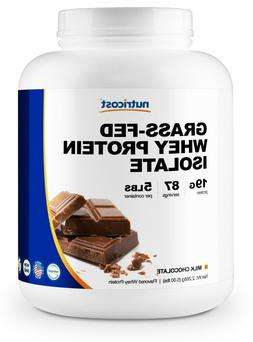 Nutricost Grass-Fed Whey Protein Isolate  5LBS - Non-GMO, Gl
