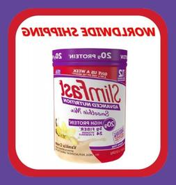 Slim Fast High Protein Vanilla Cream Smoothie Mix Powder 11.