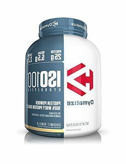 Dymatize ISO 100 Whey Protein Powder Isolate 5 lbs Gourmet V