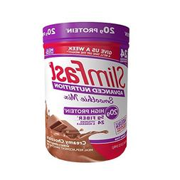 Lot Of 2 JUMBO Slim Fast Advanced Chocolate Smoothie Powder