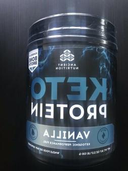 Ancient Nutrition Keto Protein Preformance Fuel Vanilla 18.7