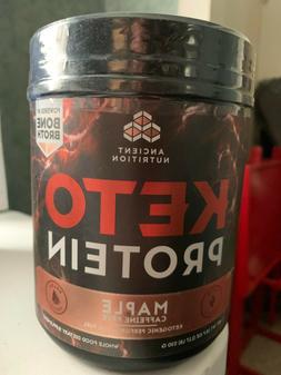 Ancient Nutrition KetoPROTEIN Powder Maple, 17 Servings - Ke