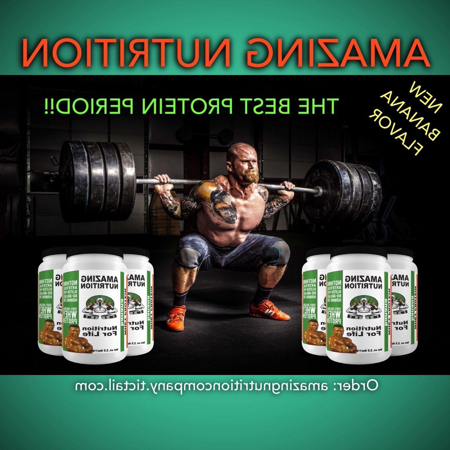 100% Whey Protein Sweetened Stevia.