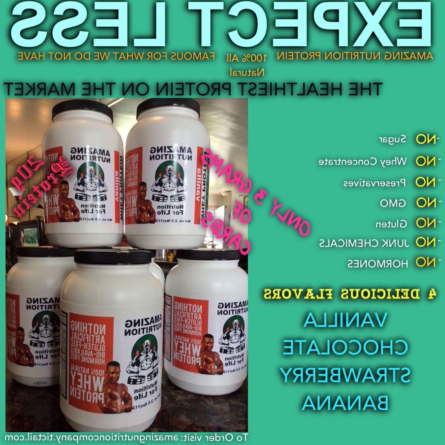 100% Natural Whey Protein Stevia.