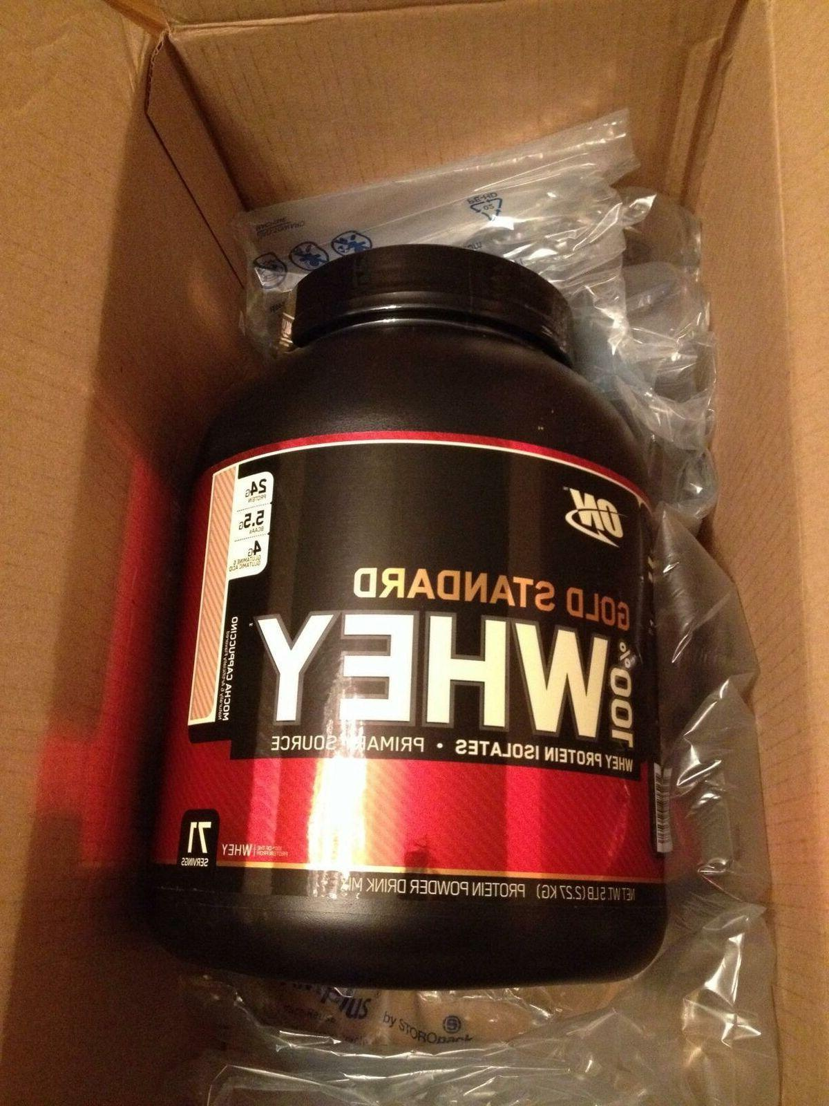 Optimum Nutrition 100 % Gold Standard Whey Protein 5 lbs,  -