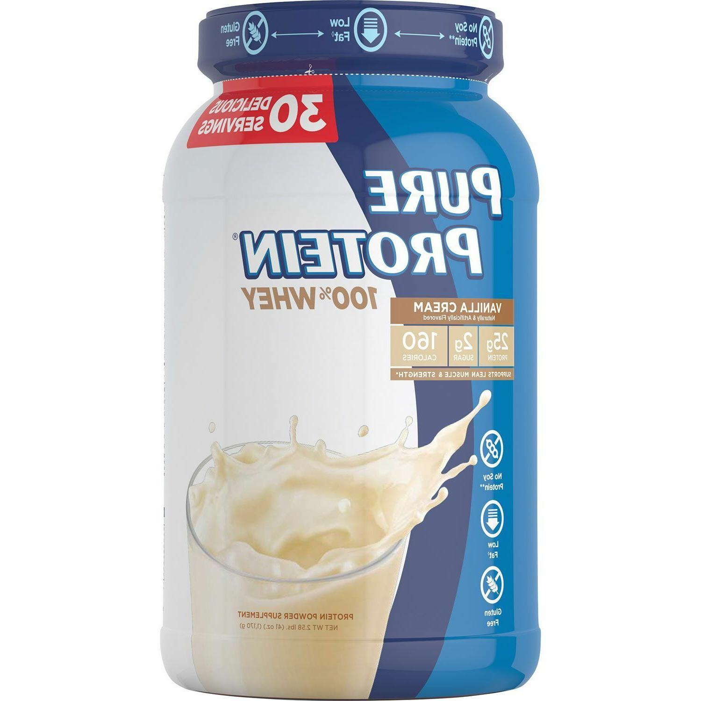 100 percent whey powder vanilla cream 2