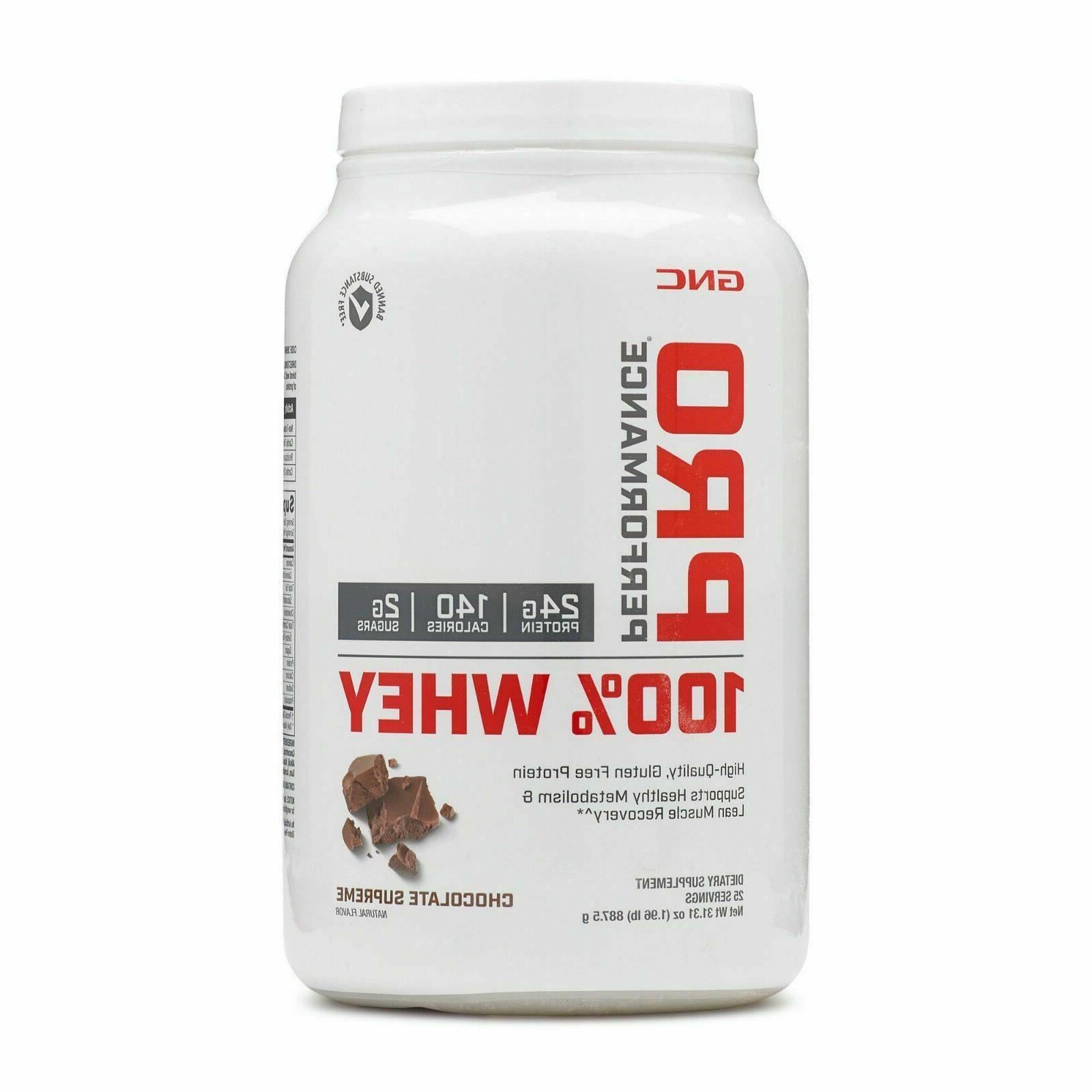 GNC Pro Performance 100 Whey Protein - Chocolate Supreme 1.9