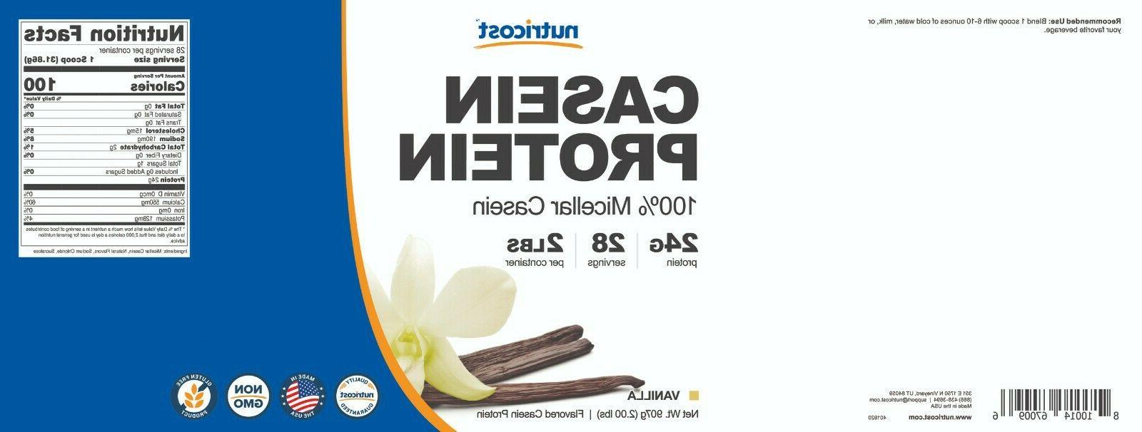 Nutricost Casein 2lb Vanilla Micellar