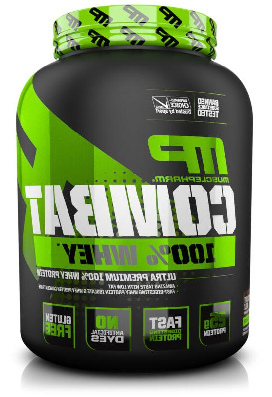 MusclePharm Combat 100% Whey Protein Powder Cappuccino 25G P